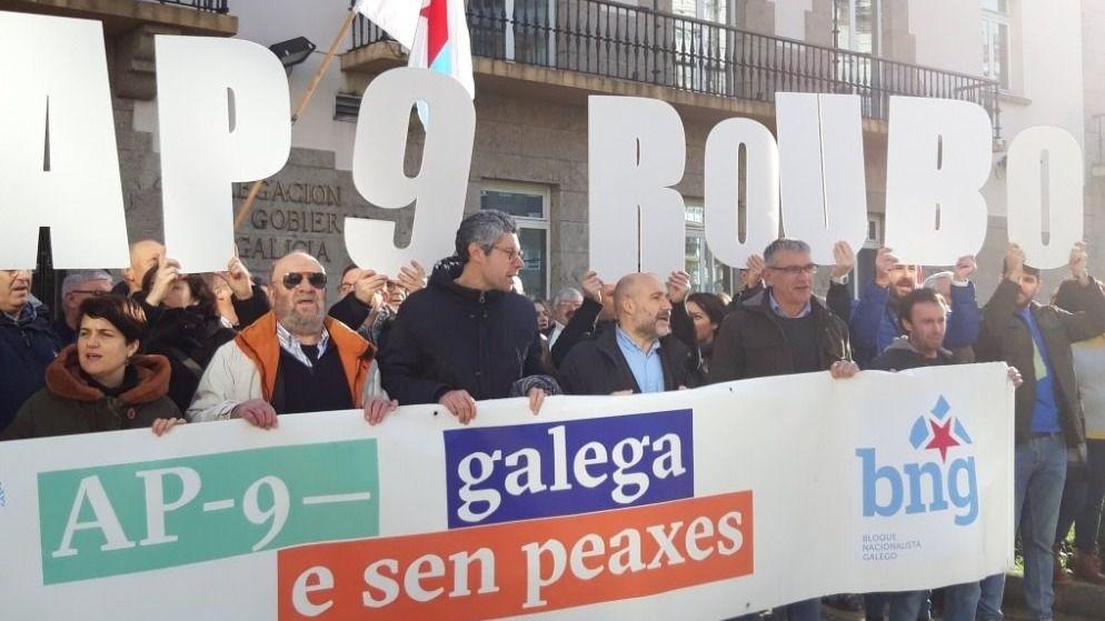 Manifestación por la AP-9