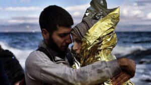 Pareja de refugiados
