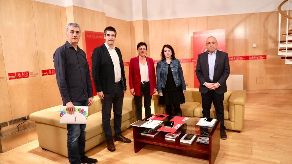 Adriana Lastra, Rafael Simancas y Bildu