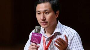 El investigador chino He Jiankui, en Hong Kong el 28 noviembre de 2018