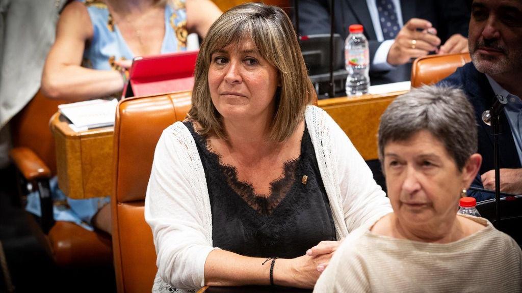 La diputada del PCS y alcaldesa de L'Hospitalet de Llobregat (Barcelona), Núria Marín