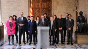 Declaración institucional de Quim Torra