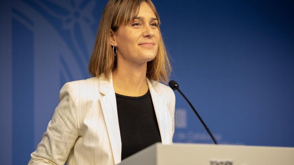 La presidenta de CatECP en el Parlament, Jèssica Albiac