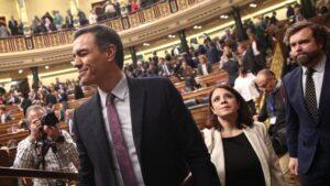Pedro Sánchez en el debate de investidura