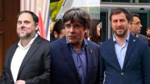 Junqueras, Puigdemont y Comin