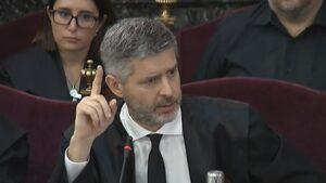 El abogado del exvicepresidente de la Generalitat Oriol Junqueras, Andreu Van den Eynde