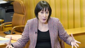 La portavoz Nacional del Bloque Nacionalista Galego (BNG) y diputada en el Parlamento de Galicia, Ana Pontón