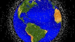 'Basura espacial' orbitando alrededor de la Tierra