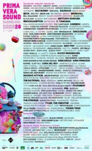 Cartel de Primavera Sound 2020