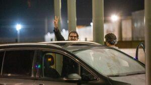 Jordi Cuixart sale de la cárcel de Lledoners por su primer permiso penitenciario