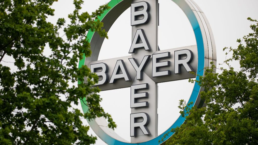 Logo del gigante agroquímico y farmacéutico alemán Bayer