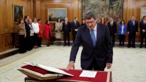 El nuevo ministro de Seguridad Social, Inclusión y Migraciones, José Luis Escrivá