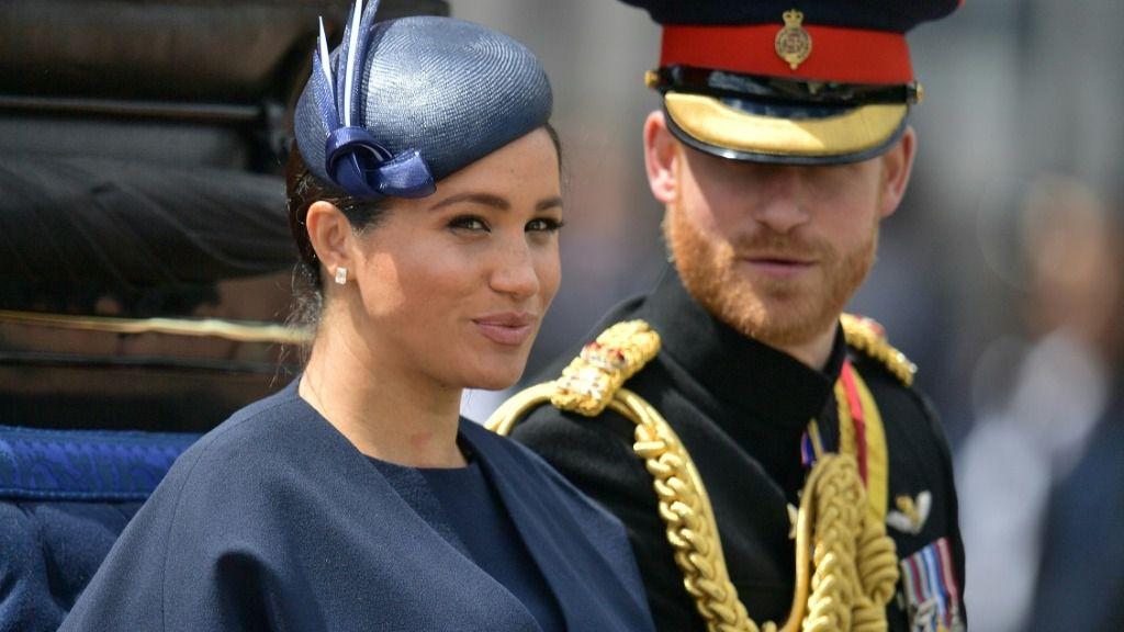 El príncipe Enrique y su esposa Meghan, Duques de Sussex, en foto tomada el 8 de junio de 2019, en Londres