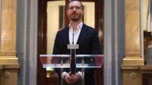 El portavoz del Partido Popular en el Senado, Javier Maroto