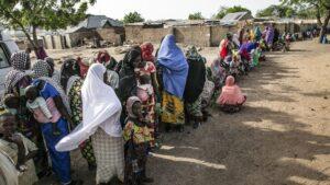 Imagen de víctimas del conflicto en el noreste de Nigeria