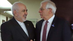 Mohamad Yavad Zarif y Josep Borrell