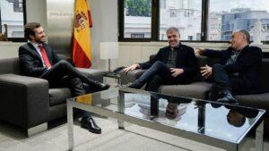 Pablo Casado, José María Álvarez y Unai Sordo