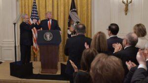 El presidente de EEUU, Donald Trump, y el primer ministro isarelí, Benjamin Netanyahu