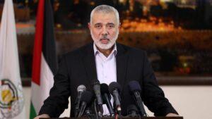 El líder del brazo político de Hamás, Ismail Haniye