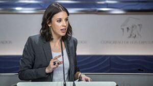 Irene Montero, portavoz de Podemos en el Congreso de los Diputados