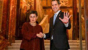El presidente encargado de Venezuela, Juan Guaidó , se reúne con la ministra de Asuntos Exteriores, UE y Cooperación, Arancha González Laya