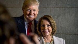 Donald Trump con Nancy Pelosi