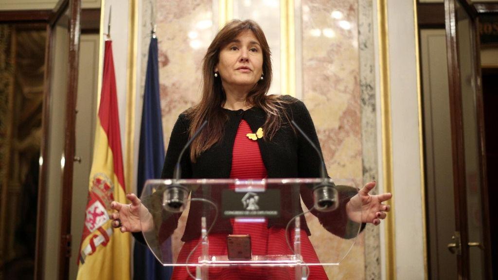 La portavoz parlamentaria de Junts per Catalunya (JxCat), Laura Borràs