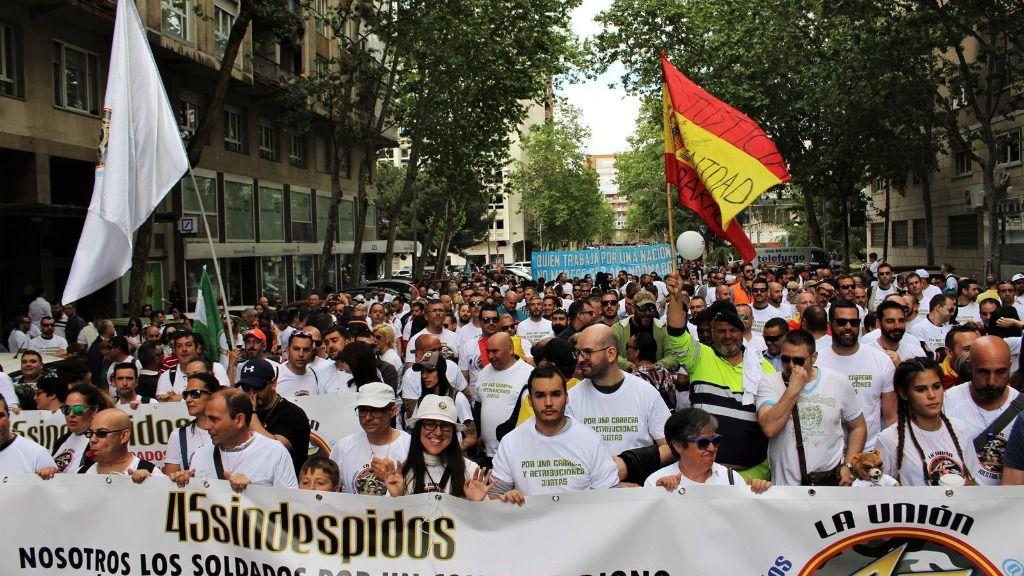 Manifestación de militares en Madrid en 2018