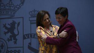 La nueva secretaria de Estado de Asuntos Exteriores y para Iberoamérica y el Caribe, Cristina Gallach; y la ministra de Asuntos Exteriores, Unión Europea y Cooperación, Arancha González Laya