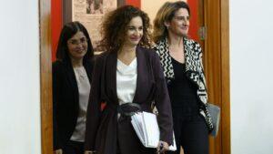 María Jesús Montero, Carolina Darias y Teresa Ribera