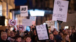 Manifestación contra AfD en Alemania