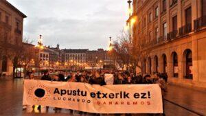 Manifestación en Pamplona en contra de las casas de apuestas