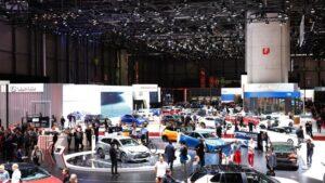 Pabellón de Lexus en el salón Internacional del Automóvil de Ginebra