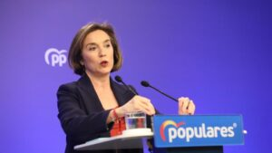 La vicesecretaria de Política Social del Partido Popular, Cuca Gamarra