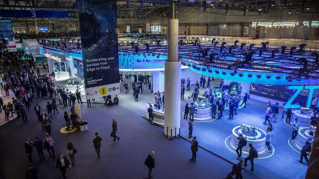 Plano general de uno de los pabellones del Mobile World Congress Barcelona