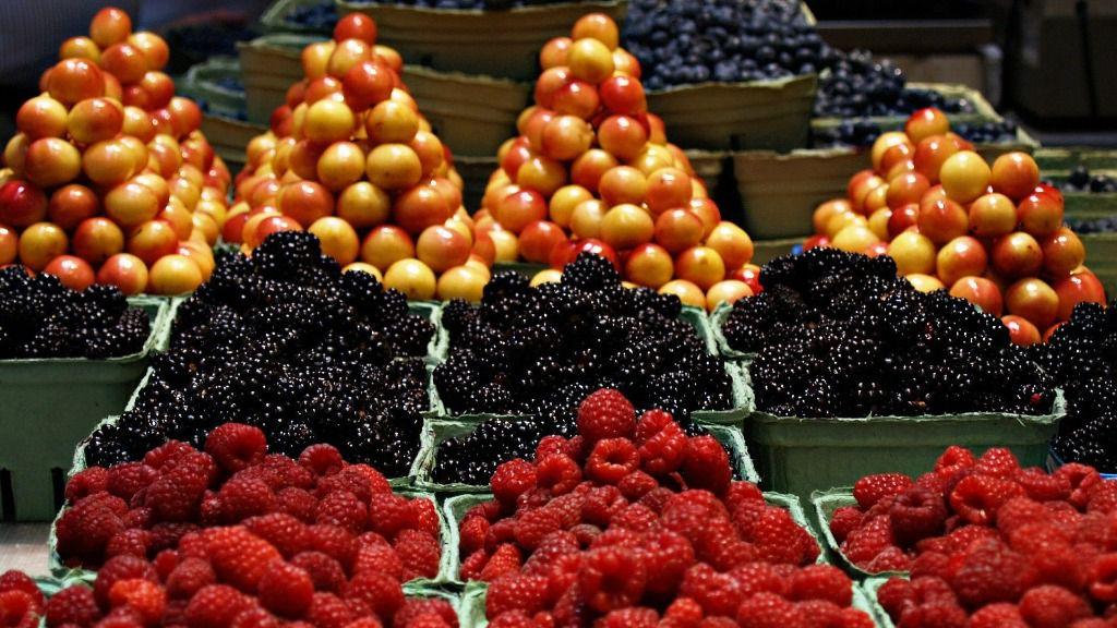 Mercado fruta verdura