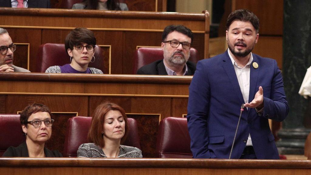 El portavoz de ERC en el Congreso de los Diputados, Gabriel Rufián