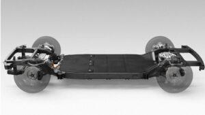 Imagen de una plataforma de un vehículo de Canoo