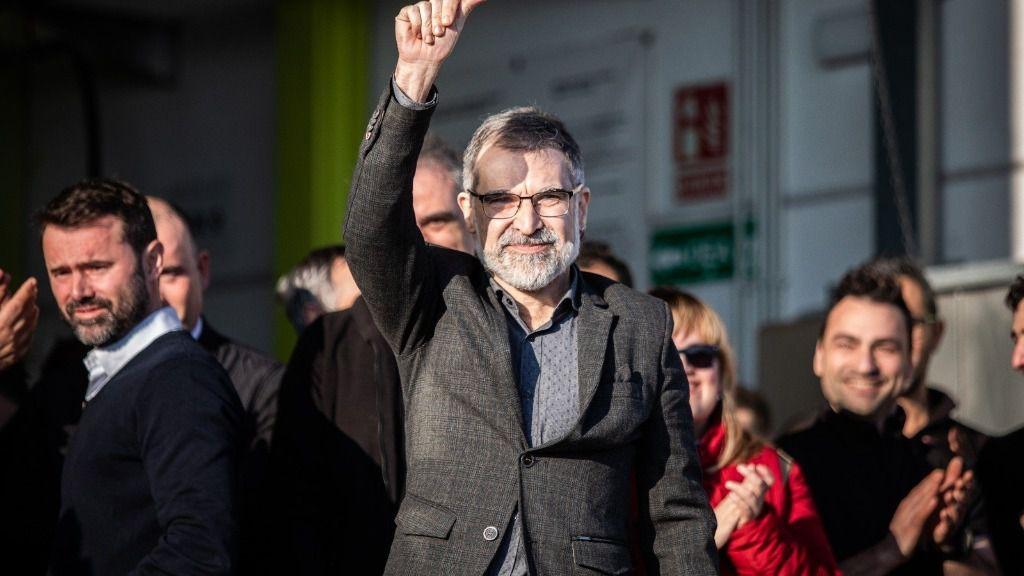 El presidente de Òmnium, Jordi Cuixart, en su empresa en Sentmenat