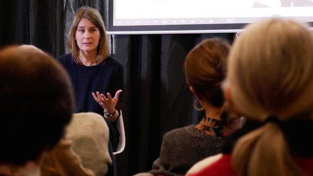 La coordinadora nacional de los comuns y aspirante a liderar la candidatura en las próximas elecciones catalanas, Jéssica Albiach