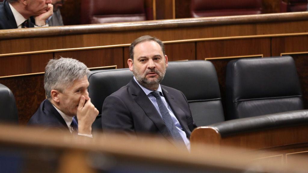 José Luis Ábalos y Fernando Grande Marlaska