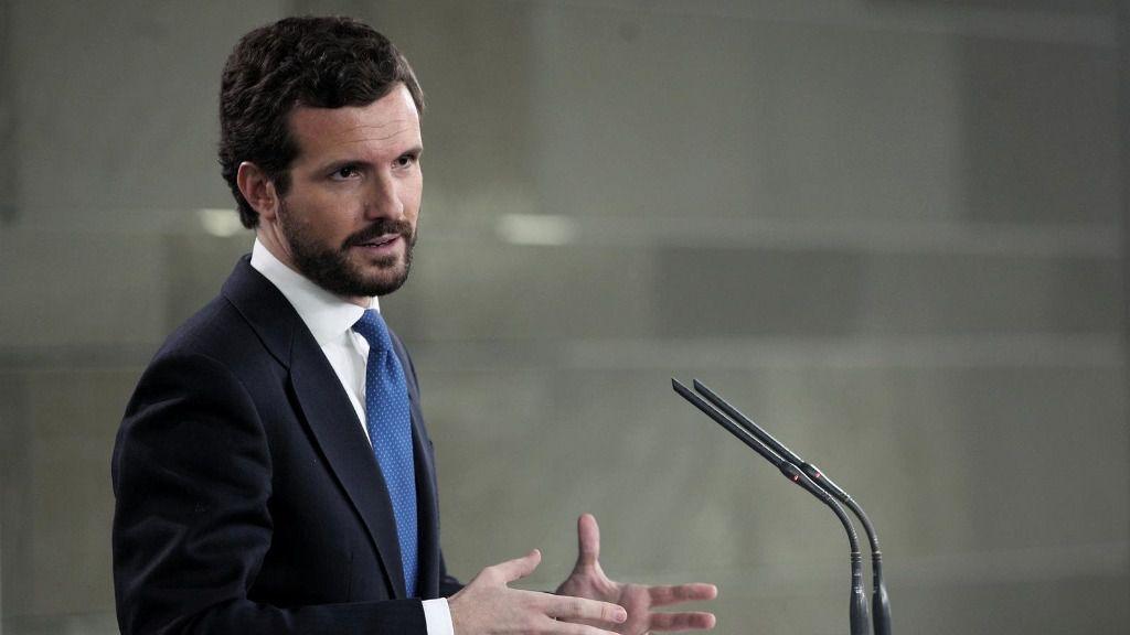 El presidente del PP, Pablo Casado