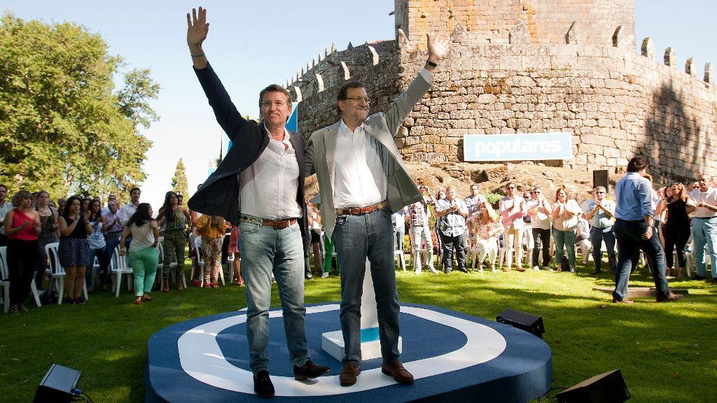 Mariano Rajoy y Alberto Núñez Feijóo