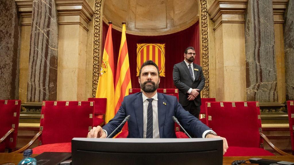 El presidente del Parlament de Catalunya, Roger Torrent,