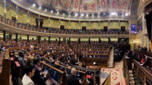 Vista panorámica del hemiciclo del Congreso de los Diputados