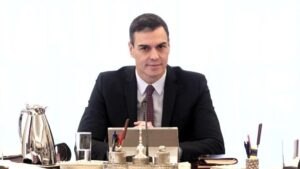 El presidente del Gobierno, Pedro Sánchez