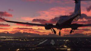 Imagen del videojuego de simulación de vuelo, Microsoft Flight Simulator