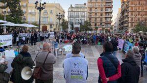Concentración de PACMA en Valencia