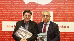 Los presidentes del Instituto Cervantes, Luis García Montero, y del Comité Olímpico Español (COE), Alejandro Blanco