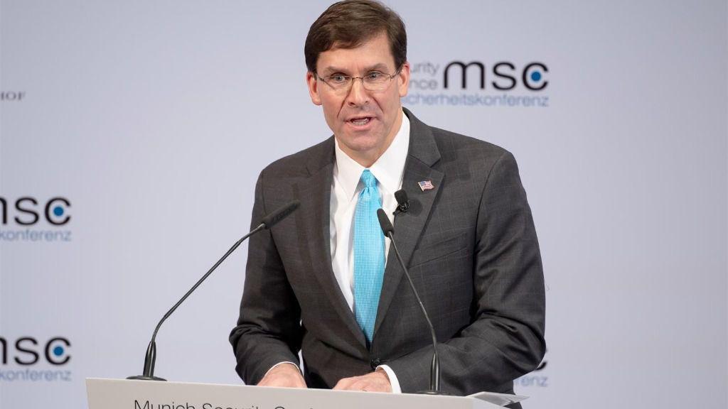 El secretario de Defensa estadounidense, Mark Esper